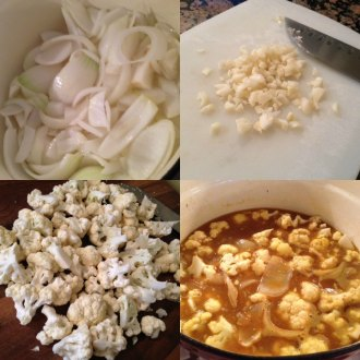Creamy Curry Cauliflower mix