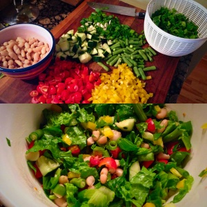Summer Soul Chopped Salad - collage